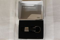 Audi A1 Genuine Merchandise Leather Key Ring 3181400201 New Genuine Audi part