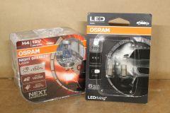 VW T4 Transporter / Caravelle Osram headlght bulb upgrade kit Nighbreaker Laser + LED sides