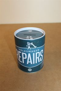 VW SERVICE 1950s style oil can money box ZCP902373 New