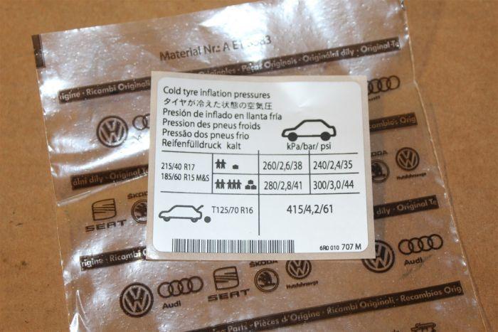Sticker 6r0010707m New Genuine Part Deutsche Parts