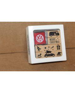 VW Wooden Block Printing Christmas set 5NL087558