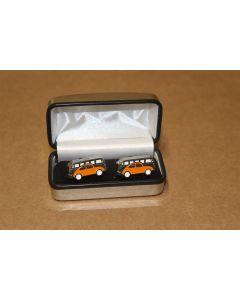 Retro Camper & Beetle Orange Cuff Links ZGB9021411130 New