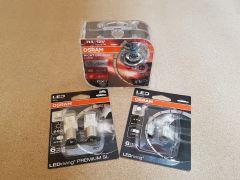 VW Polo 2010-14 H4 Osram Nightbreaker Lazer + LED bulb upgrade kit Genuine OSRAM
