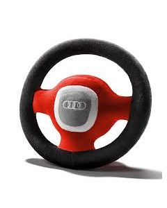 Audi Plush Soft Stuffed Steering Wheel Kids Childrens Toy Red/Grey - 4L0019102A