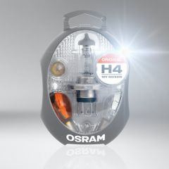 Osram H4 spare bulb kit in hard shell case - ideal for travelling to Europe CLKMH4
