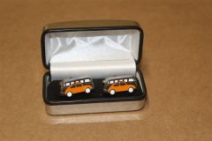 Retro Camper & Beetle Orange Cuff Links ZGB9021411130 New