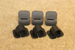 Pack of 6 bonnet sound absorber retaining clips 1H5863849A New genuine VW parts