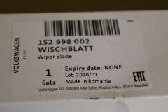 Front wiper blades set VW UP! Skoda Citigo Seat Mii (UK / RHD) 1S2998002 new genuine VW