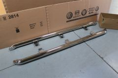 VW Amarok Pair of Polished stainless steel Sill Tubes 2H0071693A New Genuine VW