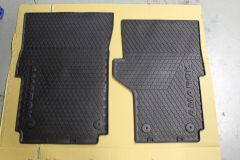 VW Amarok UK / Right hand drive front rubber floor mats - all models 2010-2021