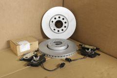 Front 288mm brake discs and pads kit VW Passat B5 / Skoda Superb