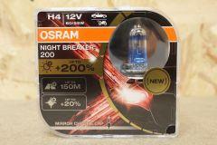Osram NIGHT BREAKER 200 H4 headlight bulb twin pack 64193NB200-HCB 4062172198158