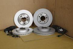 VW Transporter full front & rear brake discs & pads kit 2003 - 2020 Genuine VW parts