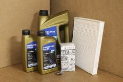 VW Transporter T5 2003–2010 1.9 TDi service kit with oil filter, sump plug, pollen filter & oil